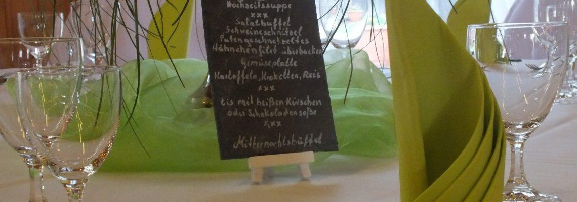 Gasthaus zur Linde Oesingen Festsaal Speisekarte